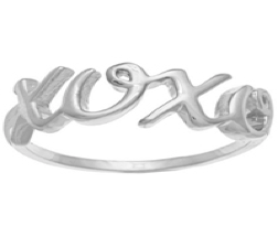 Something Silver Xoxo Ring