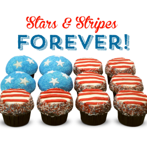 Trophy Cupcakes Stars and Stripes